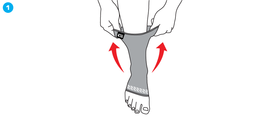 How To Apply - 456 Stabilized Ankle Support