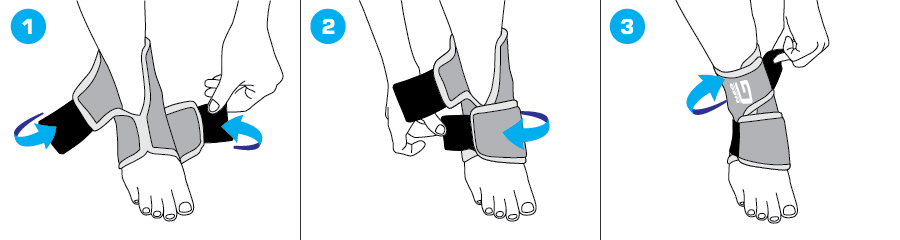 How To Apply - 887V Ankle Support