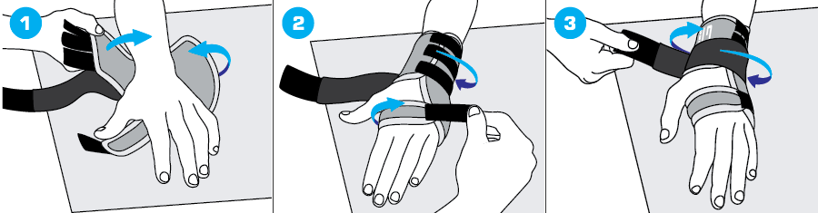 How To Apply - 895 Stabilized Wrist Brace